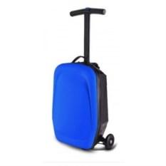 Синий чемодан-самокат