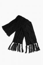 Вязаный шарф Кармен черный