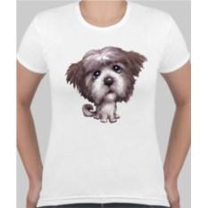 Женская футболка Лохматая собачка