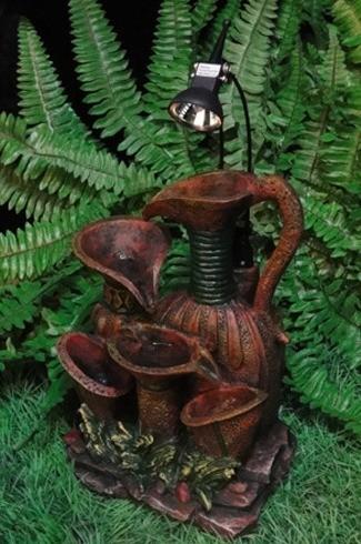 Декоративный фонтан Античный стиль. Кувшины расписные 2