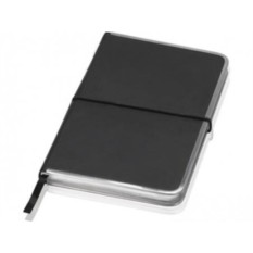 Блокнот Lettertone модель Silver Rim (цвет — черный)