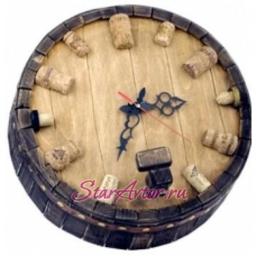 Часы ручной работы «Каждому времени свой напиток»