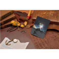 Кожаная обложка для паспорта Elole Design Горы и звезды