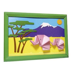 Картина-оригами «Килиманджаро»