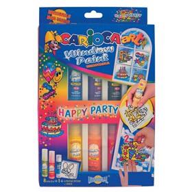 Набор красок для рисования на окнах happy party