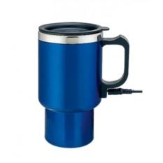 Электрическая синяя термокружка с питанием от прикуривателя
