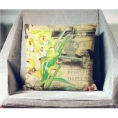 Декоративная наволочка Винтаж: Желтая орхидея