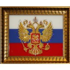 Картина с кристаллами Swarovski Герб России
