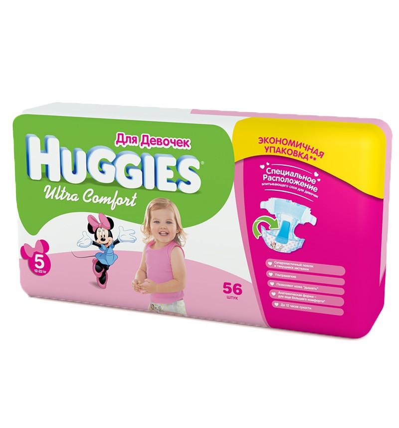 Подгузники Huggies Ultra Comfort Mega 5 (12-22 кг) 56 шт.