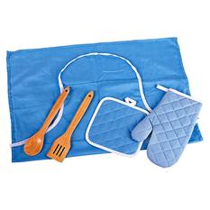 Набор: фартук, 2 прихватки, лопатка, ложка
