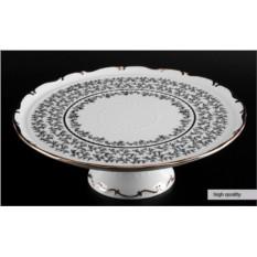 Фарфоровая тортница Белый лист Bavarian Porcelain