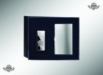 Серебряный набор Визитница гладкая и зажим для купюр