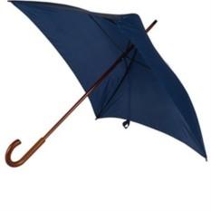 Механический зонт-трость с деревянной ручкой