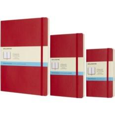Красная записная книжка в точку Moleskine Classic Soft