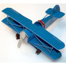 Модель синего самолета