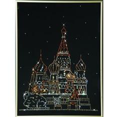 Хрустальная картина Swarovski Собор Василия Блаженного
