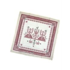 Розовая салфетка Артель с кружевом