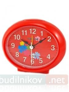 Будильник кварцевый Тик-Так Овальный (красный)