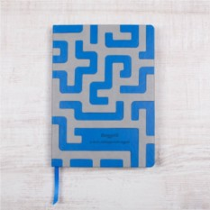 Творческий блокнот Лабиринт с гравировкой (синий)