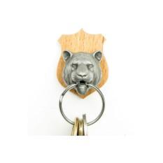 Стальной держатель для ключей с брелком Тiger