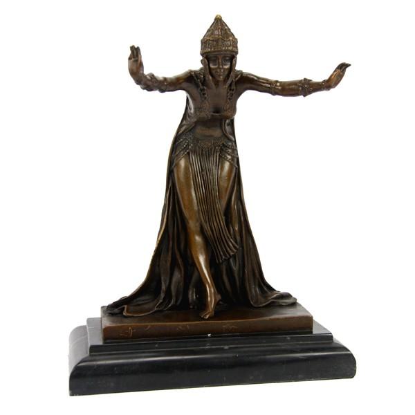 Бронзовая статуэтка Восточная танцовщица