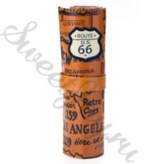 Кожаный пенал Route 66 – Brown