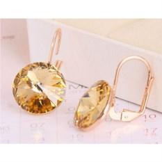 Серьги с желтыми кристаллами Сваровски Чародейка