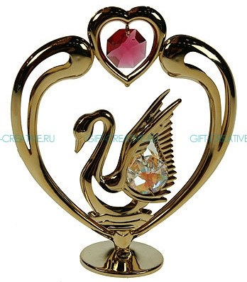 Фигурка Swarovski Лебедь с сердцем
