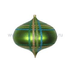 Елочная игрушка Волчок зеленого цвета