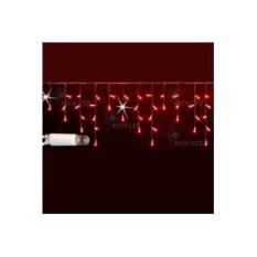 Красная светодиодная гирлянда-бахрома