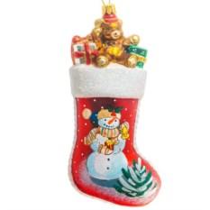 Ёлочная игрушка Красный носок для подарков