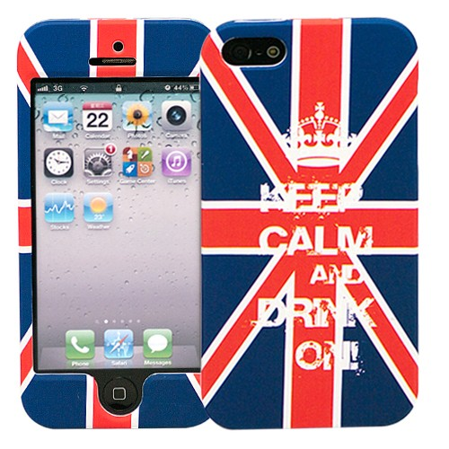 Чехол для iPhone 5/5s Dual - Keep calm UK