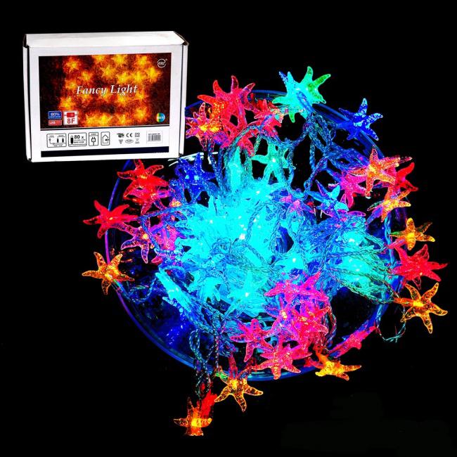 Электрогирлянда «Морская звезда» разноцветная