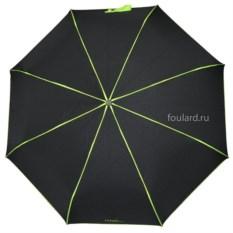Черный зонт с зелеными полосами Ferre Milano