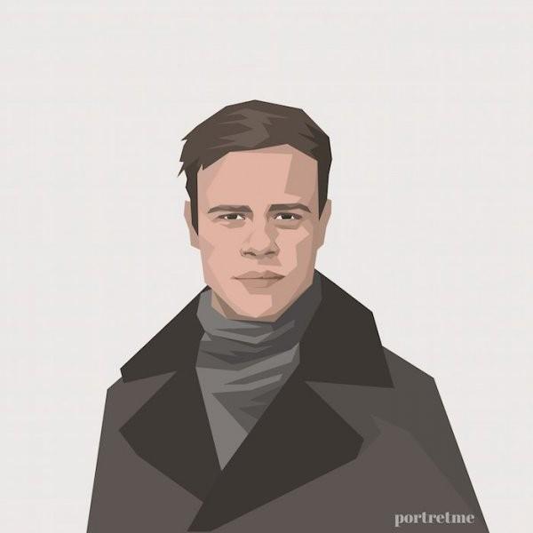 Мужской примитивный портрет