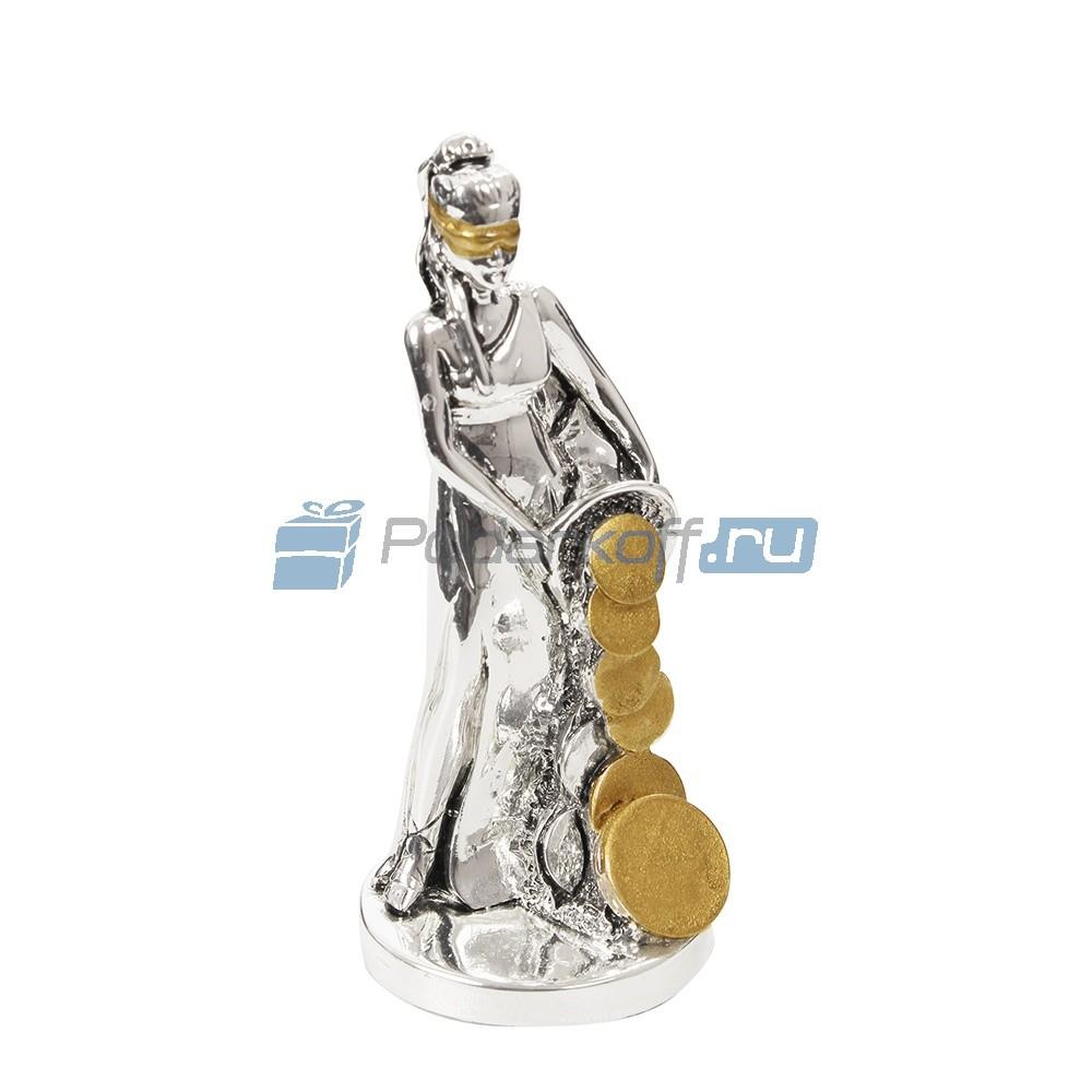 Статуэтка Богиня удачи с рогом изобилия