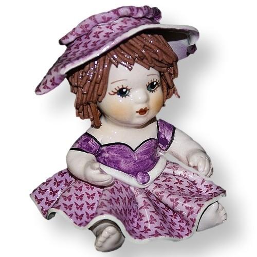 Статуэтка из фарфора Девочка в сиреневом платье ZamPiva