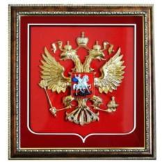 Панно Герб РФ современный, 35х37 см