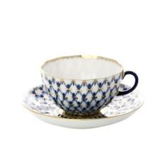 Чайная чашка с блюдцем, форма Тюльпан, рисунок Кобальтовая сетка