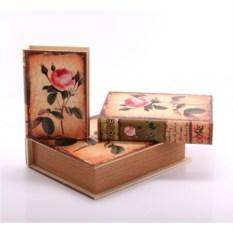 Набор шкатулок-фолиантов Роза