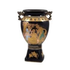 Декоративная ваза черного цвета из керамики