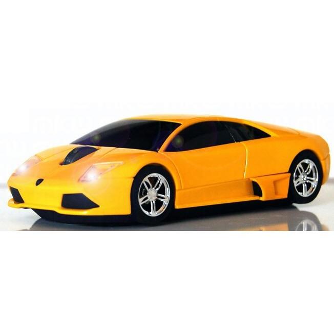 Компьютерная мышка Lamborghini Murcielago Yellow