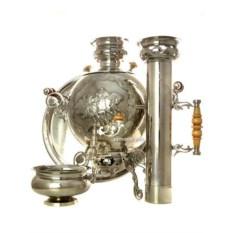 Набор: самовар Метелица, поднос, капельница, труба (5 л)