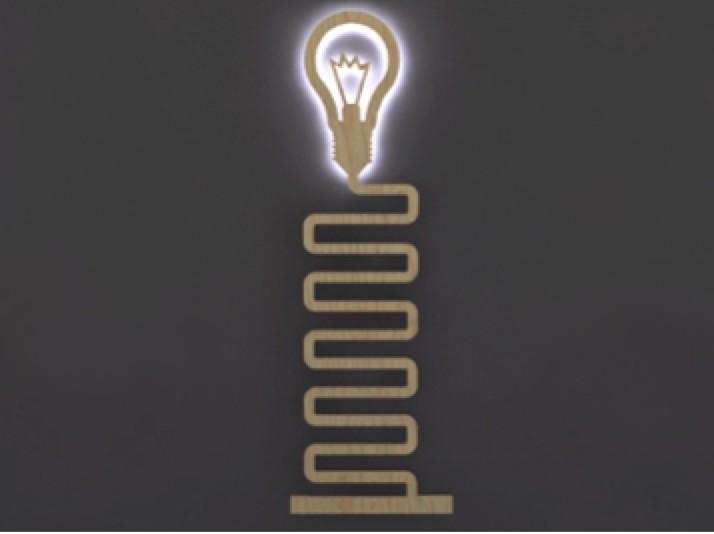 Дизайнерский светильник Плоский свет