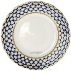 Фарфоровая десертная тарелка Кобальтовая сетка