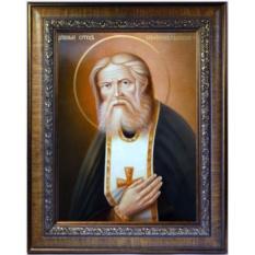 Святой преподобный Серафим Саровский. Икона на холсте