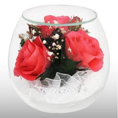 Композиция из розовых-розовых роз