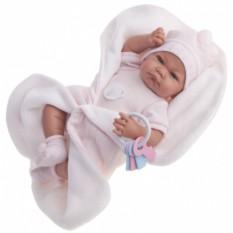 Кукла-младенец Munecas Antonio Juan Фернанда в розовом