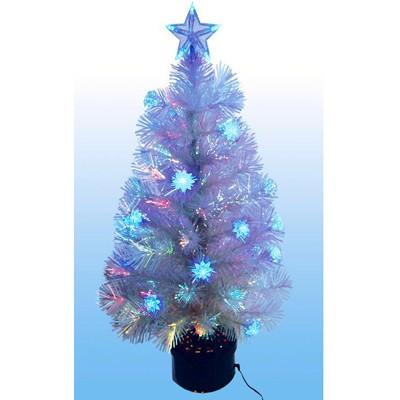 Светящаяся оптоволоконная елка Снежок