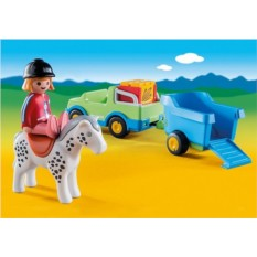 Конструктор Playmobil 1.2.3 Автомобиль с коневозкой